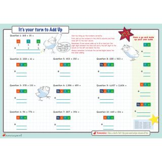 Addition Maths Learning Mats