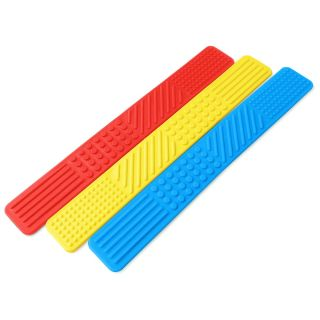 ARK's Sensory Bookmark Fidget 3 Pack Primary Red Yellow Blue