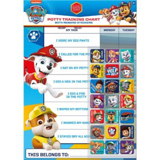 Paw Patrol Potty and Toilet Training Reward Chart by Paper Projects