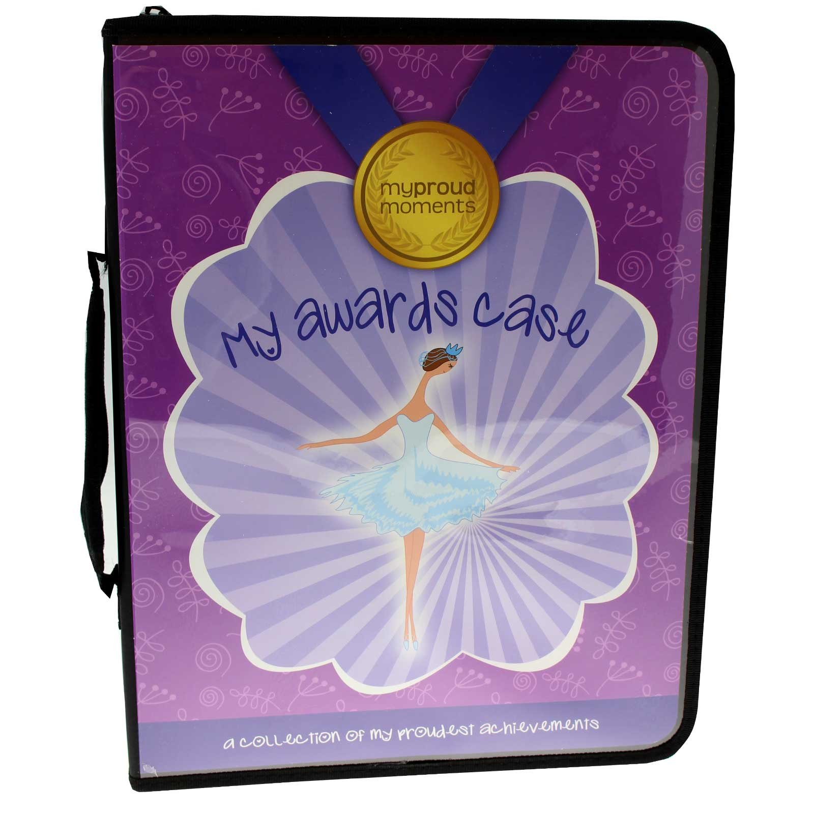 My Proud Moments Purple Dancer Awards Certificate Badge Medal Case