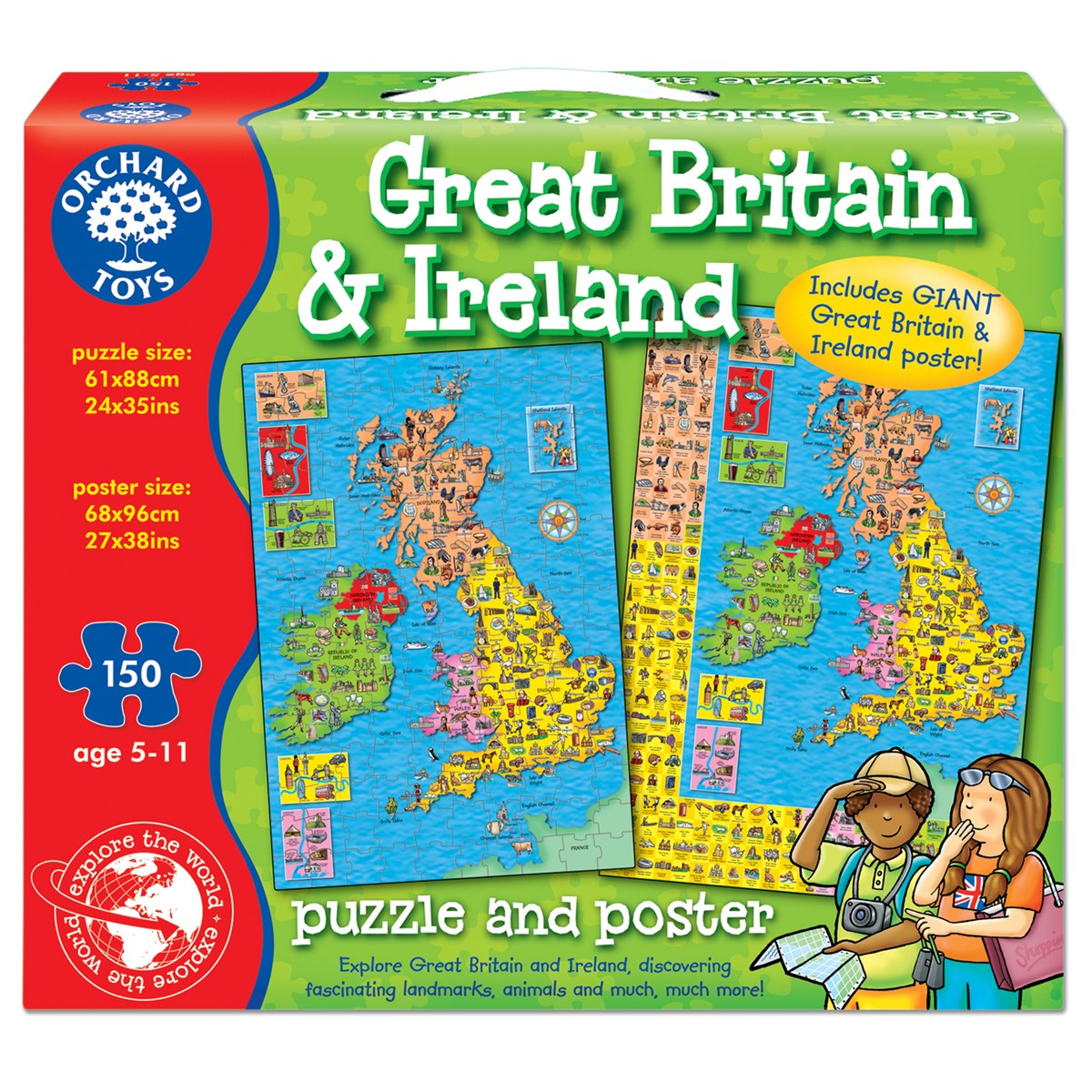 Orchard toys great britain ireland map poster educational learning item specifics gumiabroncs Image collections