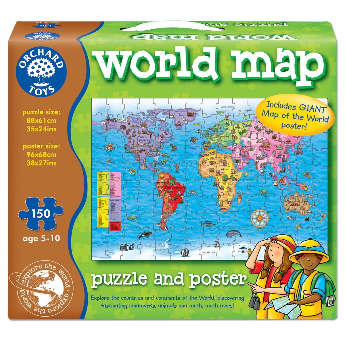 Orchard toys world map puzzle and poster 787799868768 ebay picture 1 of 3 sciox Gallery